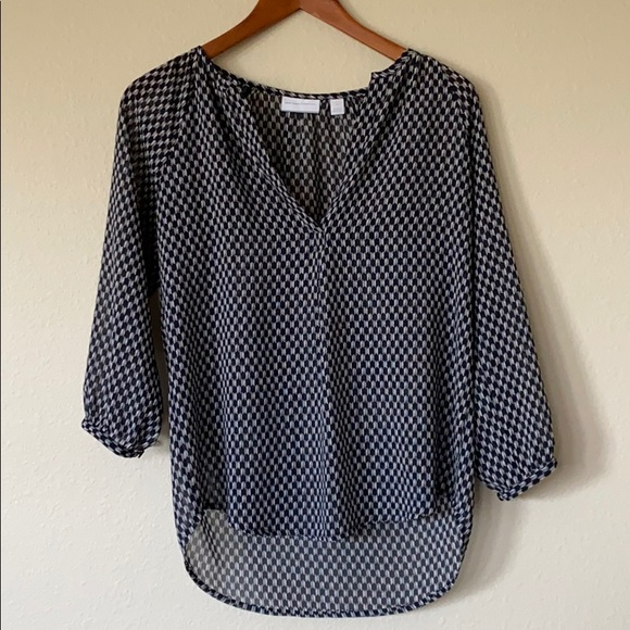 New York & Company Tops - New York & Company Sheer 3/4 Sleeve Shirt